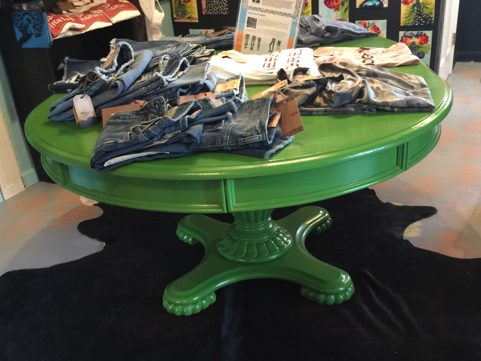 custom painted dining table