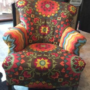 Custom upholstered arm chair