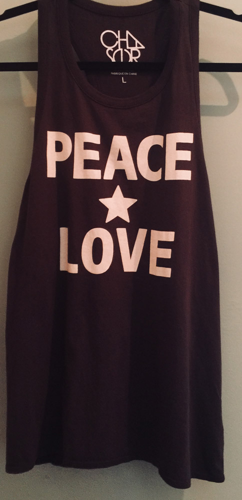 Chaser – Peace Sign Tank – Size Large